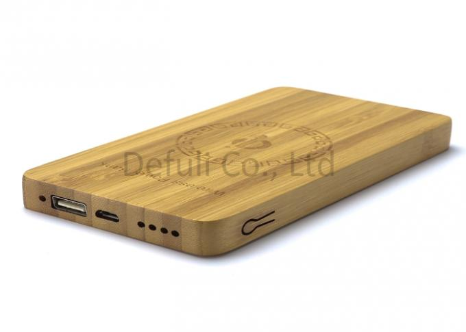 USB Port Wireless Cell Phone Charger For Android ,  Bamboo Materials