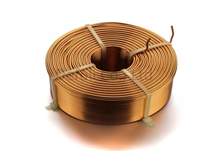 Custom Round Flat Inductive Charging Coil Copper Wire With 44.75mm Thickness