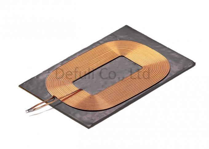 Strong Signal Receiver Wireless Charging Coil 100Khz/1V With Ferrite , Square Shape