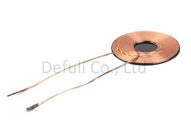 China Smd Transformer Inductive Charging Coil 0.59mm Thickness With Copper Wire Material supplier