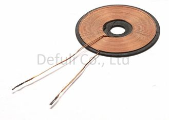 China Wireless Transmission Inductive Charging Coil 23mm OD With Ferrite Sheet supplier