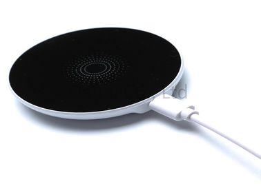 China Black Portable Induction Wireless Phone Charger For Android , Power Pad Charger supplier