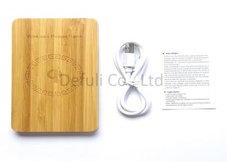 China USB Port Wireless Cell Phone Charger For Android ,  Bamboo Materials supplier