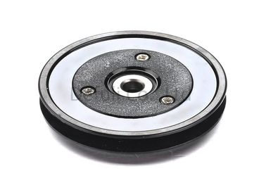 Black Flanged Pulley Guide With Ceramic Coating / Bearing Wire Guide